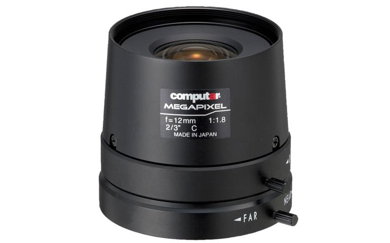 CBC M1218FIC-MP 5 Megapixel 2/3 Inch 12mm, F1.8, Manual Iris, C Mount Lens-0