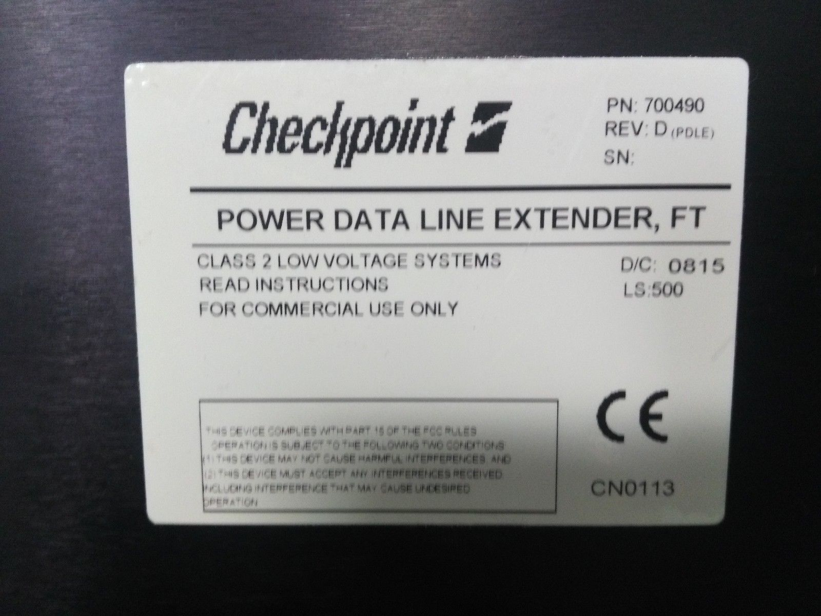 Checkpoint Clarity CCTV Data Line Extender Remanufacturing  Service, (1) Year Warranty-0