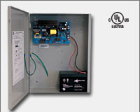 Altronix AL1012ULX 12VDC @ 10 amp, 115VAC input, AC and battery monitoring, non-power limited output, grey enclosure. UL Listed (UL294) CUL Listed. CSFM, MEA.-0