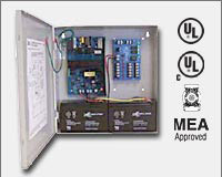"Altronix AL300ULM 12VDC or 24VDC @ 2.5 amp, 115VAC input, AC and battery monitoring. Fire Alarm interface. Five (5) individually PTC protected Class 2 Rated power limited outputs, grey enclosure 13.5""H x 13""W x 3.25""D. UL Listed (UL294) (UL603) (UL1069) (-0"