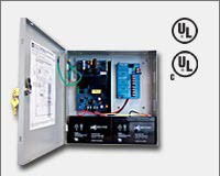 "Altronix AL300ULPD4CB 12VDC or 24VDC @ 2.5 amp, 115VAC input, AC and battery monitoring. Four (4) PTC protected Class 2 Rated power limited outputs, grey enclosure 13.5""H x 13""W x 3.25""D. UL Listed (UL294) CUL Listed, (UL603), (UL1069), (UL1481).-0"