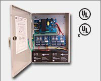 "Altronix AL300ULXPD16 12VDC or 24VDC @ 2.5 amp, 115VAC input, AC and battery monitoring. Sixteen (16) fuse protected Class 2 Rated power limited outputs, grey enclosure 15.5""H x 12""W x 4.5""D. UL Listed (UL294) CUL Listed, (UL603), (UL1069), (UL1481).-0"