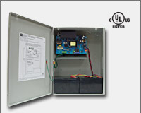 "Altronix AL1012ULXPD4 12VDC @ 10 amp, 115VAC input, AC and battery monitoring. Four (4) fuse protected outputs, grey enclosure 15.5""H x 12""W x 4.5""D. UL Listed (UL294) CUL Listed.-0"
