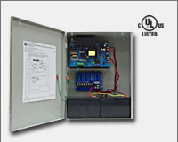 "Altronix AL1012ULXPD4CB 12VDC @ 10 amp, 115VAC input, AC and battery monitoring. Four (4) PTC protected Class 2 Rated power limited outputs, grey enclosure 15.5""H x 12""W x 4.5""D. UL Listed (UL294) CUL Listed.-0"