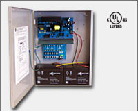 "Altronix AL1012ULXPD8 12VDC @ 10 amp, 115VAC input, AC and battery monitoring. Eight (8) fuse protected outputs, grey enclosure 15.5""H x 12""W x 4.5""D. UL Listed (UL294) CUL Listed.-0"