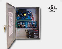 "Altronix AL1012ULXPD16 12VDC @ 10 amp, 115VAC input, AC and battery monitoring. Sixteen (16) fuse protected outputs, grey enclosure 15.5""H x 12""W x 4.5""D. UL Listed (UL294) CUL Listed.-0"