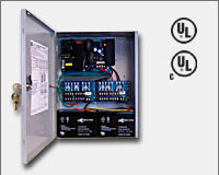 "Altronix AL1024ULXPD16 24VDC @ 10 amp, 115VAC input, AC and battery monitoring. Sixteen (16) fuse protected outputs, grey enclosure 15.5""H x 12""W x 4.5""D. UL Listed (UL294) CUL Listed, (UL1481).-0"