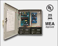 "Altronix AL400UL3 Simultaneous Power Outputs: 5VDC @ 1.75 amp, 12VDC @ 1.75 amp and 24VDC @ 1.5 amp, 115VAC input, AC and battery monitoring. Three (3) Class 2 Rated power limited outputs, grey enclosure 13.5""H x 13""W x 3.25""D. UL Listed (UL294) CUL Liste-0"
