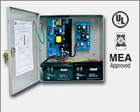Altronix AL600UL3 Simultaneous Power Outputs: 5VDC and 12VDC @ 1.75 amp, and 24VDC @ 3 amp, 115VAC input, AC and battery monitoring. Two (2) Class 2 Rated power limited outputs (5VDC and 12VDC), single non-power limited output (24VDC), grey enclosure 13.5-0