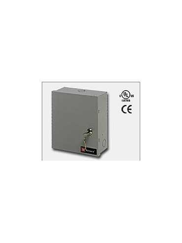 Altronix ALTV248ULCB Eight (8) PTC protected Class 2 Rated power limited outputs. 24VAC @ 3.5 amp (85VA) or 28VAC @ 3 amp (85VA), 115VAC input. Grey enclosure. UL Listed (UL2044) CUL Listed and CE Approved.