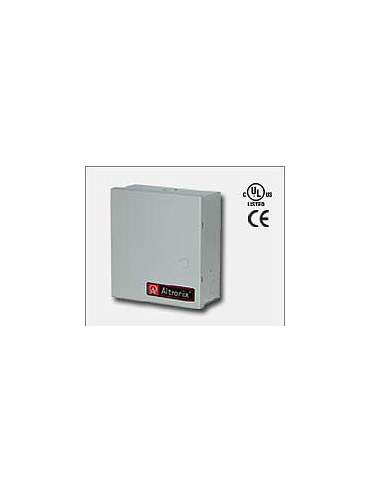 Altronix ALTV248ULMI Eight (8) individually electronically isolated fuse protected Class 2 Rated power limited outputs rated @ 1.6 amp each. 24VAC @ 12.5 amp (300VA), 115VAC input. Grey enclosure. UL Listed (UL2044) CUL Listed.