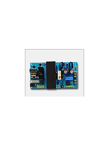 Altronix OLS120 12VDC or 24VDC @ 4 amp, 115VAC input, AC and battery monitoring.