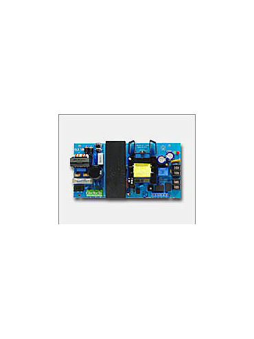 Altronix OLS180 12VDC or 24VDC @ 6 amp, 115VAC input, AC and battery monitoring.