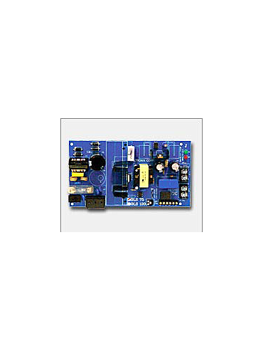 Altronix OLS75 12VDC or 24VDC @ 2.5 amp, 115VAC input, AC and battery monitoring.