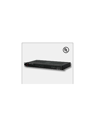 Altronix VertiLine246 24 - fuse protected outputs, 24VAC or 28VAC selectable by output, 17 amp total current, 1U EIA 19-Inch Rack Mount Chassis, 115/230VAC Input