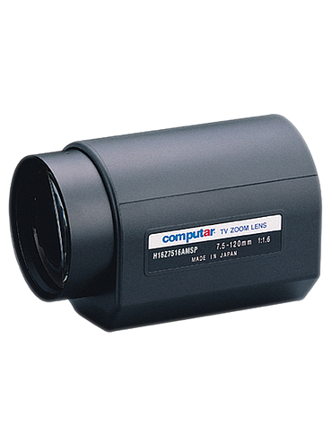 "CBC H16Z7516AMSP 1/2"" 7.5 - 120 mm. f1.6 16x Motorized Zoom, Video Auto Iris w/ spot and preset (C Mount)"