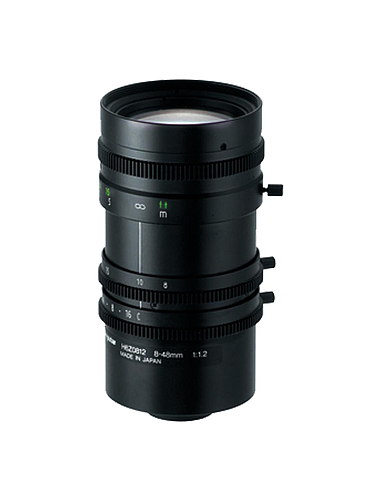 CBC H6Z0812 1/2 Inch 8-48 mm f1.2 6X Manual Zoom, Manual Iris (C Mount)