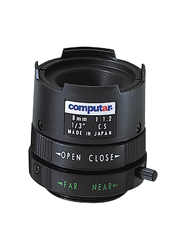 CBC T0812FICS 1/3 Inch 8mm f1.2 Monofocal, Manual Iris (CS Mount)