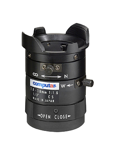 CBC T2Z1816CS 1/3 Inch 1.8-3.6mm f1.6 Varifocal, Manual Iris (CS Mount)