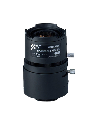 CBC T3Z0312CS-MPIR 3 Megapixel, 1/3 Inch 3-8mm F1.2 Varifocal, HD Series Manual Iris (CS Mount) Day/Night IR