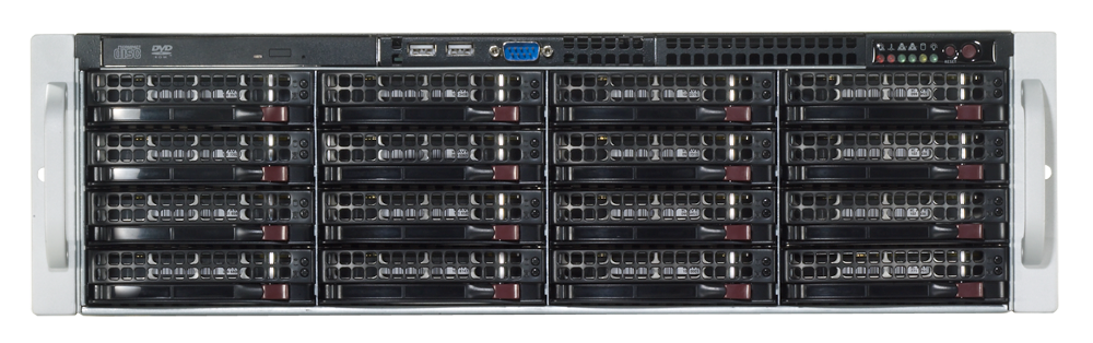 CBC ZNR-24TB-R NVR RAID-5 Servers for IP Cameras Up to 74 IP Cameras, 24TB RAID-5, and DVD-RW.