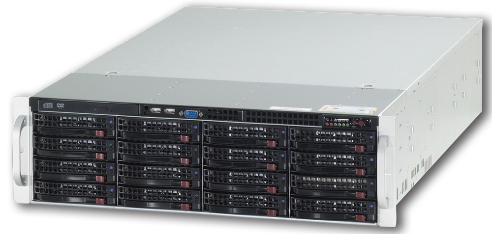 CBC ZNR-24TB-RL IP Raid-5 Lite NVR Server for IP Cameras Up to 40 IP Cameras, 24TB RAID-5, and DVD-RW