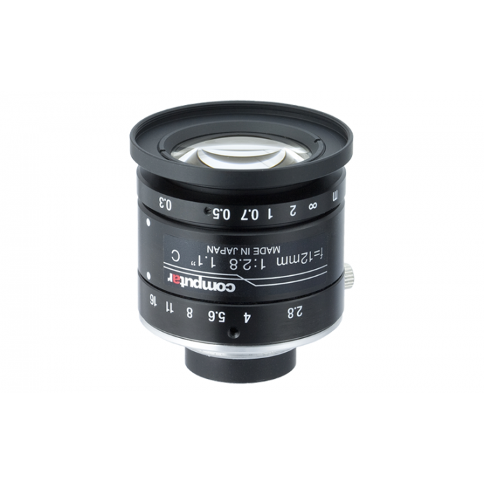 "CBC V1228-MPY 1.1"" 12 mm. f2.8, 12 megapixel Ultra low Distortion Lens"