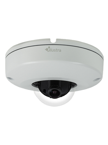 American Dynamics IPS03CFOCWST 3 Megapixel Network Outdoor Mini Dome Camera, 2.8 mm. Lens