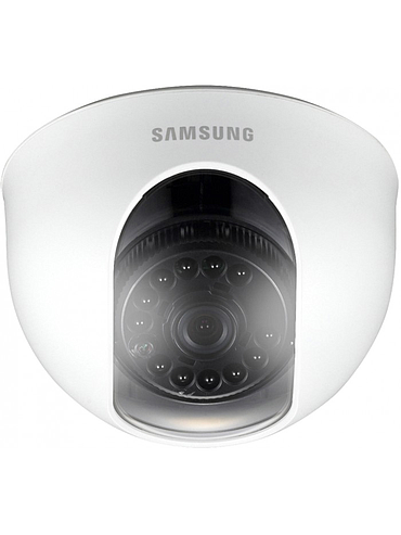 "SAMSUNG ANALOG IR DOME CAMERA, 1/4"", 520TVL, 3.6MM, D/N, 12VDC"