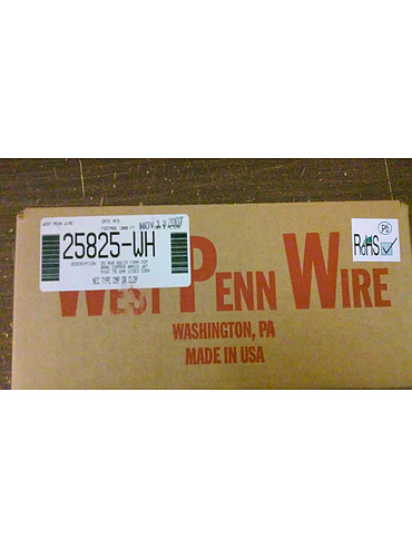 West Penn Wire MiniMax Plenum 1,000' Box of Coax CCTV Cable 25AWG Solid 25825-WH