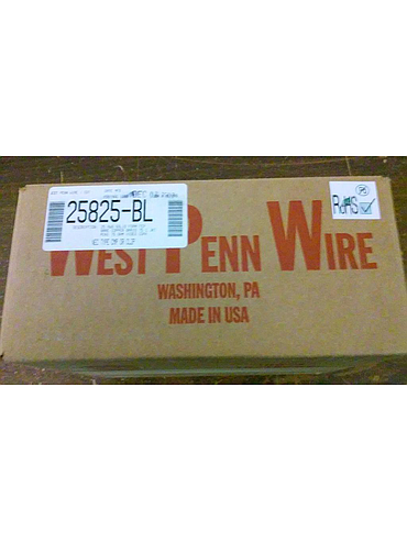 West Penn Wire MiniMax Plenum 1,000' Box of Coax CCTV Cable 25AWG Solid 25825-BL