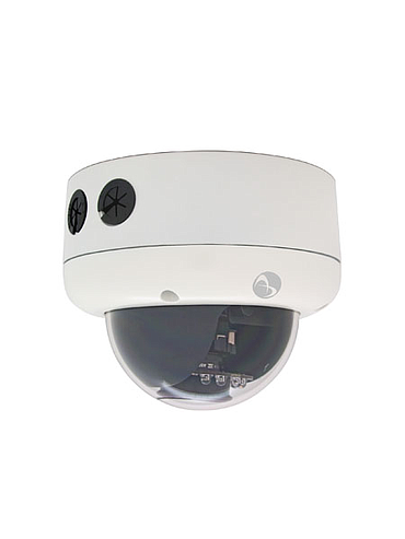 American Dynamics Illustra 400 ADCI400-D013 Fixed Dome 2/3 MP 3.3 - 12 mm. TDN WDR PoE Indoor White Smoke IR Illuminator NTSC Camera