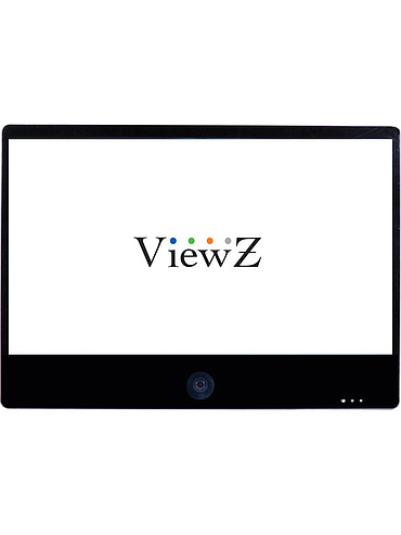 "ViewZ VZ-PVM-Z3B3 27"" Full HD Widescreen LED Backlit Monitor with Built-In 1.3MP Camera (Black)"