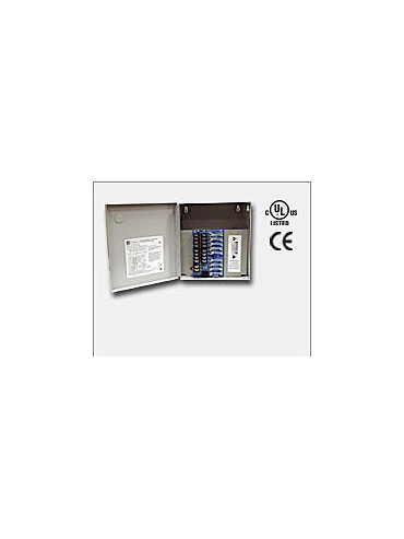 Altronix ALTV615DC48ULM Eight (8) fuse protected Class 2 Rated power limited outputs, 6-15VDC @ 4 amp, 115VAC input. Grey enclosure. UL Listed (UL2044) CUL Listed and CE Approved.