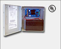 "Altronix AL100UL 12VDC @ 0.75 amp, Class 2 Power Limited Output, grey enclosure 8.5""H x 7.5""W x 3.5""D. UL Listed (UL603), ULC."