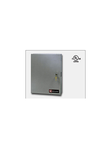 "Altronix AL1012ULM 12VDC @ 10 amp, 115VAC input, AC and battery monitoring. Fire Alarm interface. Five (5) individually PTC protected Class 2 Rated power limited outputs, grey enclosure 15.5""H x 12""W x 4.5""D. UL Listed (UL294)"