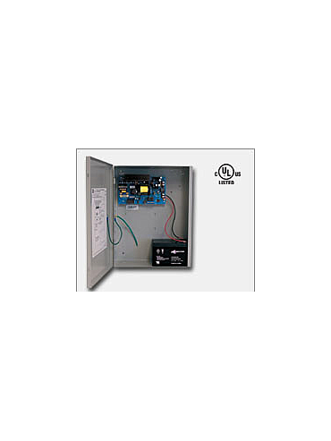 Altronix AL1012ULX 12VDC @ 10 amp, 115VAC input, AC and battery monitoring, non-power limited output, grey enclosure. UL Listed (UL294) CUL Listed. CSFM, MEA.
