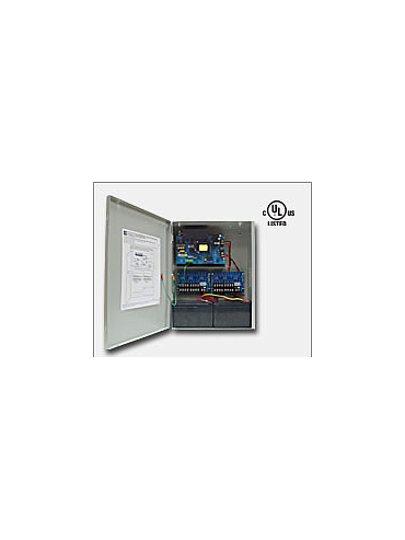 "Altronix AL1012ULXPD16CB 12VDC @ 10 amp, 115VAC input, AC and battery monitoring. Sixteen (16) PTC protected Class 2 Rated power limited outputs, grey enclosure 15.5""H x 12""W x 4.5""D. UL Listed (UL294) CUL Listed."