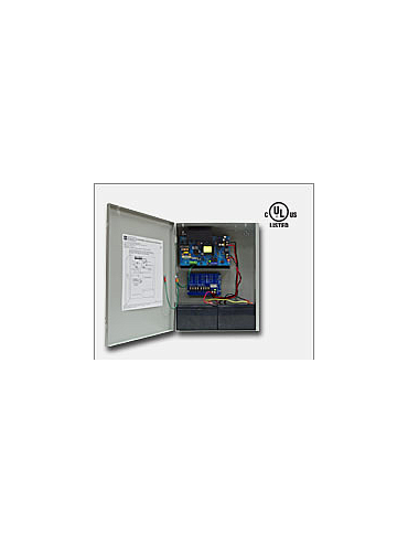 "Altronix AL1012ULXPD4CB 12VDC @ 10 amp, 115VAC input, AC and battery monitoring. Four (4) PTC protected Class 2 Rated power limited outputs, grey enclosure 15.5""H x 12""W x 4.5""D. UL Listed (UL294) CUL Listed."