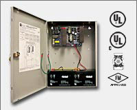 Altronix AL1024ULX 24VDC @ 10 amp, 115VAC input, AC and battery monitoring, non-power limited output, grey enclosure. UL Listed (UL294) CUL Listed, (UL1481). CSFM and MEA and FM Approved.