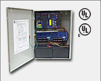"Altronix AL1024ULXPD16CB 24VDC @ 10 amp, 115VAC input, AC and battery monitoring. Sixteen (16) PTC protected Class 2 Rated power limited outputs, grey enclosure 15.5""H x 12""W x 4.5""D. UL Listed (UL294) CUL Listed, (UL1481)."