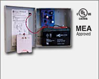 Altronix AL125ULP 12VDC @ 1 amp or 24VDC @ .5 amp, Latching/Non Latching Fire Alarm Disconnect, grey enclosure, TP2440 Plug-in transformer, UL Listed (UL294) CUL Listed.