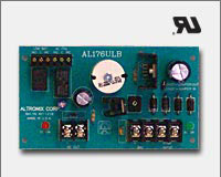 Altronix AL176ULB 12 VDC or 24 VDC @ 1.75 Amp Board, AC fail and low battery reporting. UL Recognized component