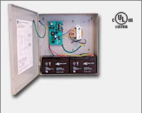 Altronix AL176ULX power supply/charger converts a 115VAC 60Hz input, to a 1.75 amp of continuous supply current @ 12VDC or 24VDC Class 2 Rated power limited output