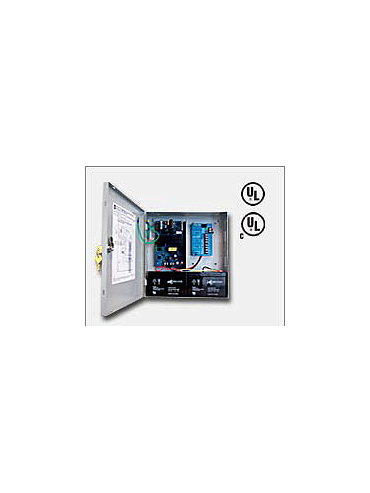 "Altronix AL300ULPD4CB 12VDC or 24VDC @ 2.5 amp, 115VAC input, AC and battery monitoring. Four (4) PTC protected Class 2 Rated power limited outputs, grey enclosure 13.5""H x 13""W x 3.25""D. UL Listed (UL294) CUL Listed, (UL603), (UL1069), (UL1481)."