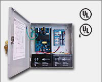 "Altronix AL300ULPD8 12VDC or 24VDC @ 2.5 amp, 115VAC input, AC and battery monitoring. Eight (8) fuse protected Class 2 Rated power limited outputs, grey enclosure 13.5""H x 13""W x 3.25""D. UL Listed (UL294) CUL Listed, (UL603), (UL1069), (UL1481)."