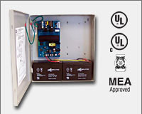 "Altronix AL300ULX 12VDC or 24VDC @ 2.5 amp, 115VAC input, AC and battery monitoring, Class 2 Rated power limited output, grey enclosure 13.5""H x 13""W x 3.25""D. UL Listed (UL294) CUL Listed, (UL603), (UL1069), (UL1481). CSFM and MEA Approved."