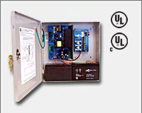 "Altronix AL600ULPD4 12VDC or 24VDC @ 6 amp, 115VAC input, AC and battery monitoring. Four (4) fuse protected outputs, grey enclosure 13.5""H x 13""W x 3.25""D. UL Listed (UL294) CUL Listed, (UL1481)."