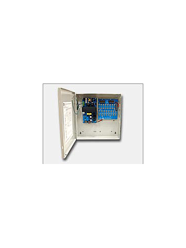Altronix ALTV1224DC1 Sixteen (16) fuse protected outputs, 12VDC or 24VDC @ 4 amp, 115VAC input. Grey enclosure