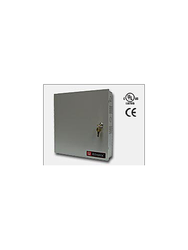 Altronix ALTV2432300ULCB Thirty-two (32) PTC protected Class 2 Rated power limited outputs. 24VAC @ 12.5 amp (300VA) or 28VAC @ 10 amp (280VA), 115VAC input. Grey enclosure. UL Listed (UL2044) CUL Listed and CE Approved.